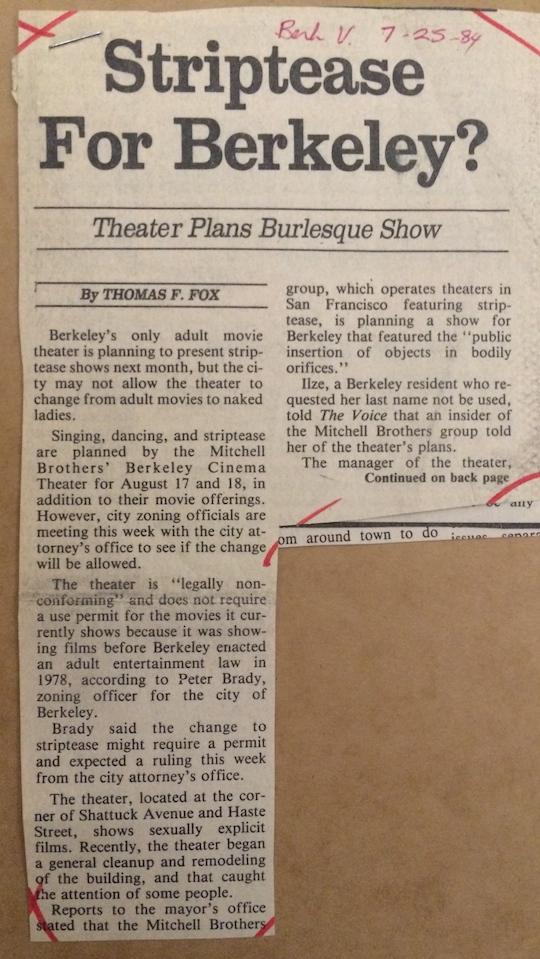 Striptease?  1984