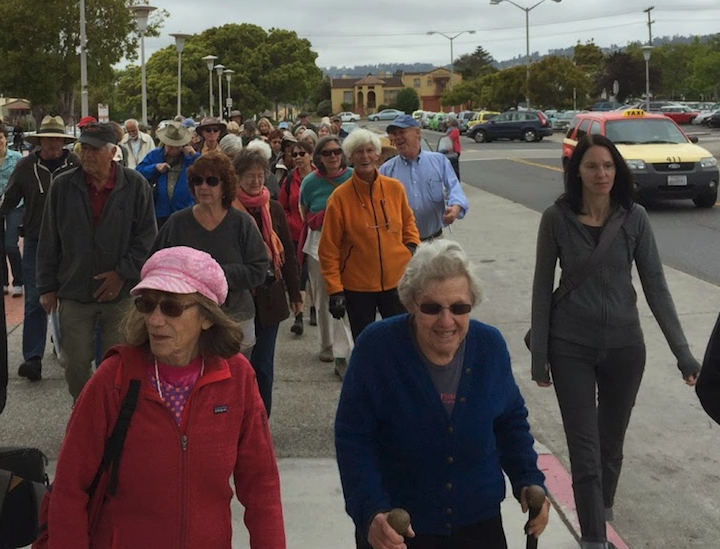 North Berkeley BART - walk starts!  Photo: David Richman