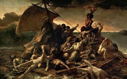 Ship Sinking Painting