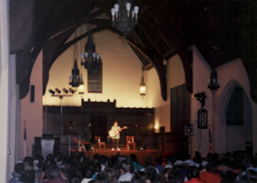 Judy Small performing at Julie's Place, 1989