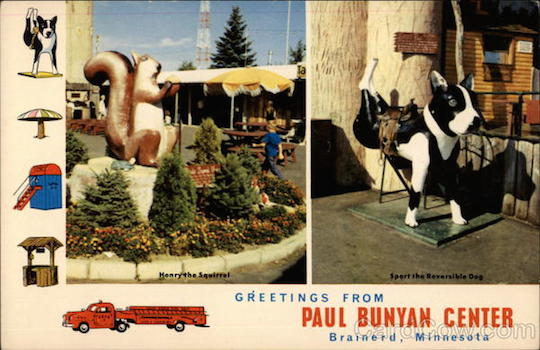 Henry the Squirrel  Sport the Reversible Dog, Paul Bunyan Center Brainerd