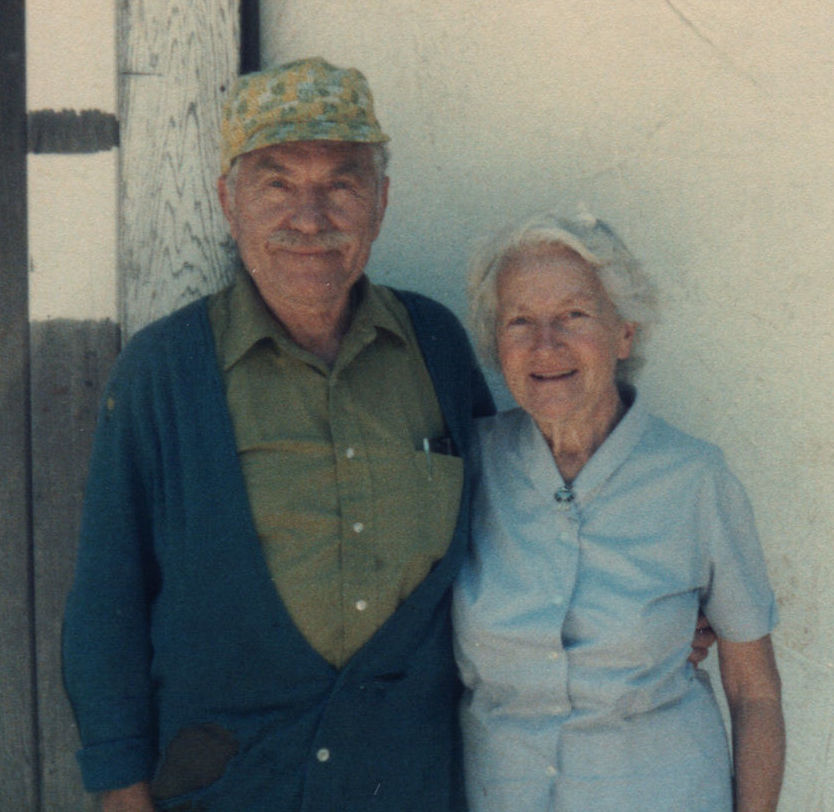 Lucienne Bloch and Stephen Pope Dimitroff  in 1985. photo: Alexander Kaloian