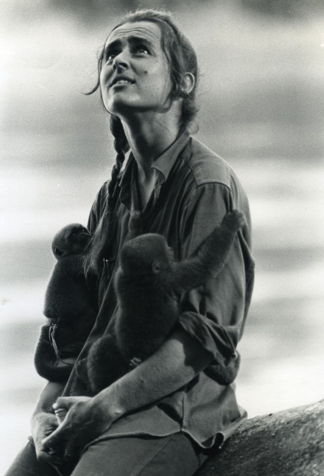 Dorothy Klein in Colombia (1968).  Photo: Lewis Klein.