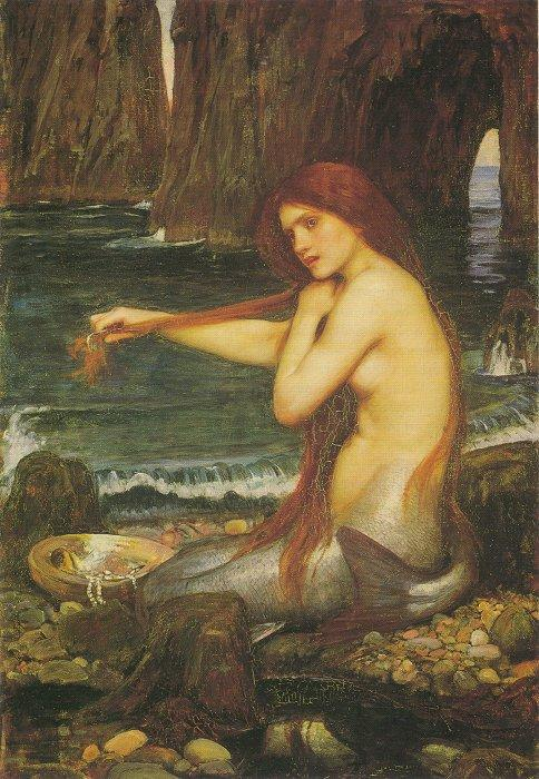"John William Waterhouse, ""A Mermaid"""