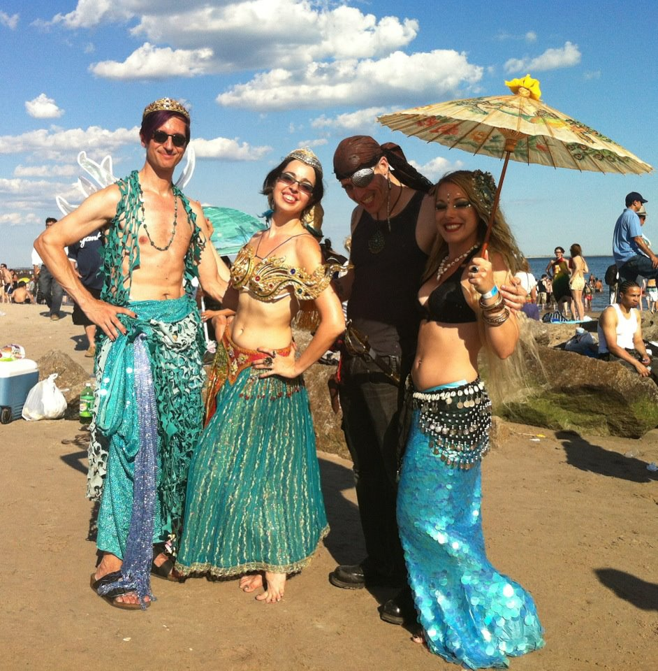 On the right my friend Jesse.  Coney Island Mermaid Parade, 2012