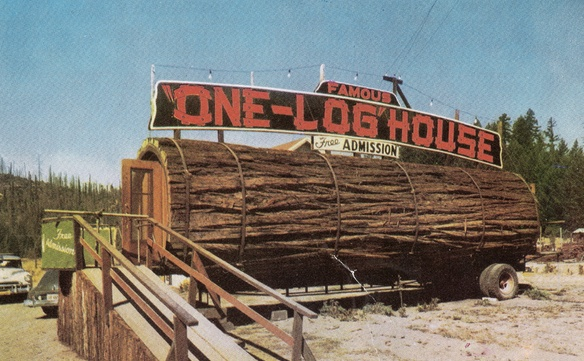 Photo: http://www.buyredwood.com/blog/famous-one-log-house