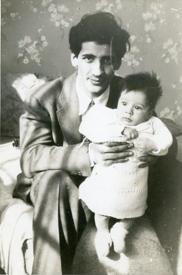 Martin Metal with son David Reed Innis Meal) February 1942; photo courtesy Aurora Metal