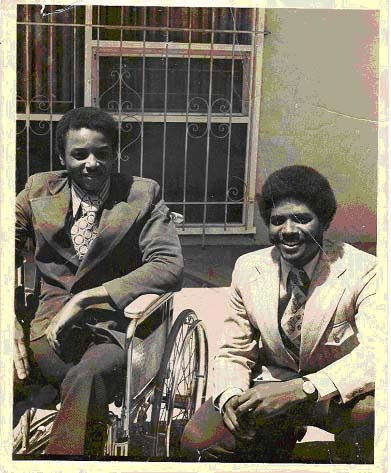 Brad Lomax and his brother Glenn.  Photo: http://leadonnetwork.org/wordpress/2016/02/09/black-disability-history-brad-lomax-black-panther-revolutionary-black-nationalism-and-disability-power/