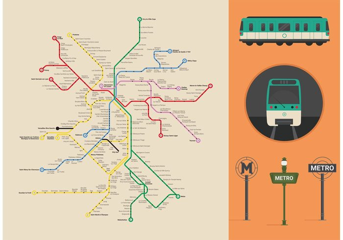 paris-metro-vector-map