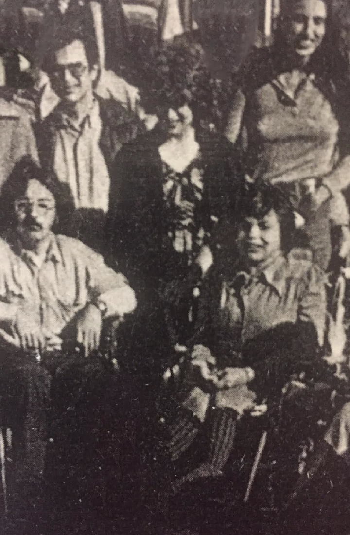 Back Row: Ken Stein, Debbie Kaplan, Lynn Kidder Tijerina Front Row: Franco Foise, and Judy Heumann.