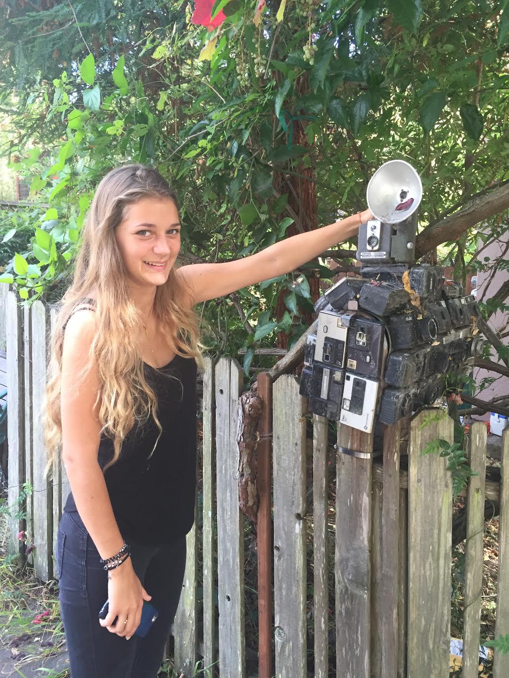 Les Blank's camera mailbox, Summer Street