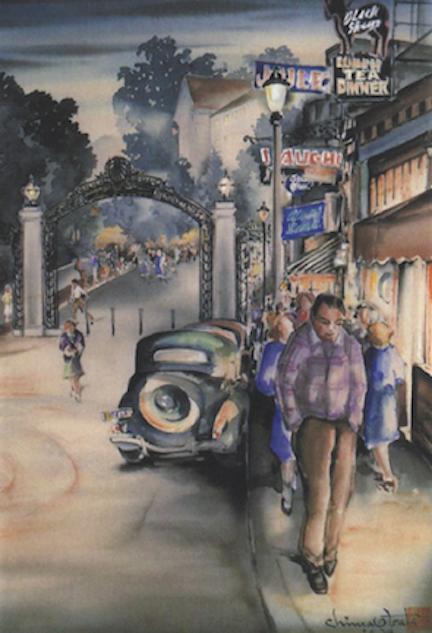 Obata-Dusk-at-Sather-Gate-1939