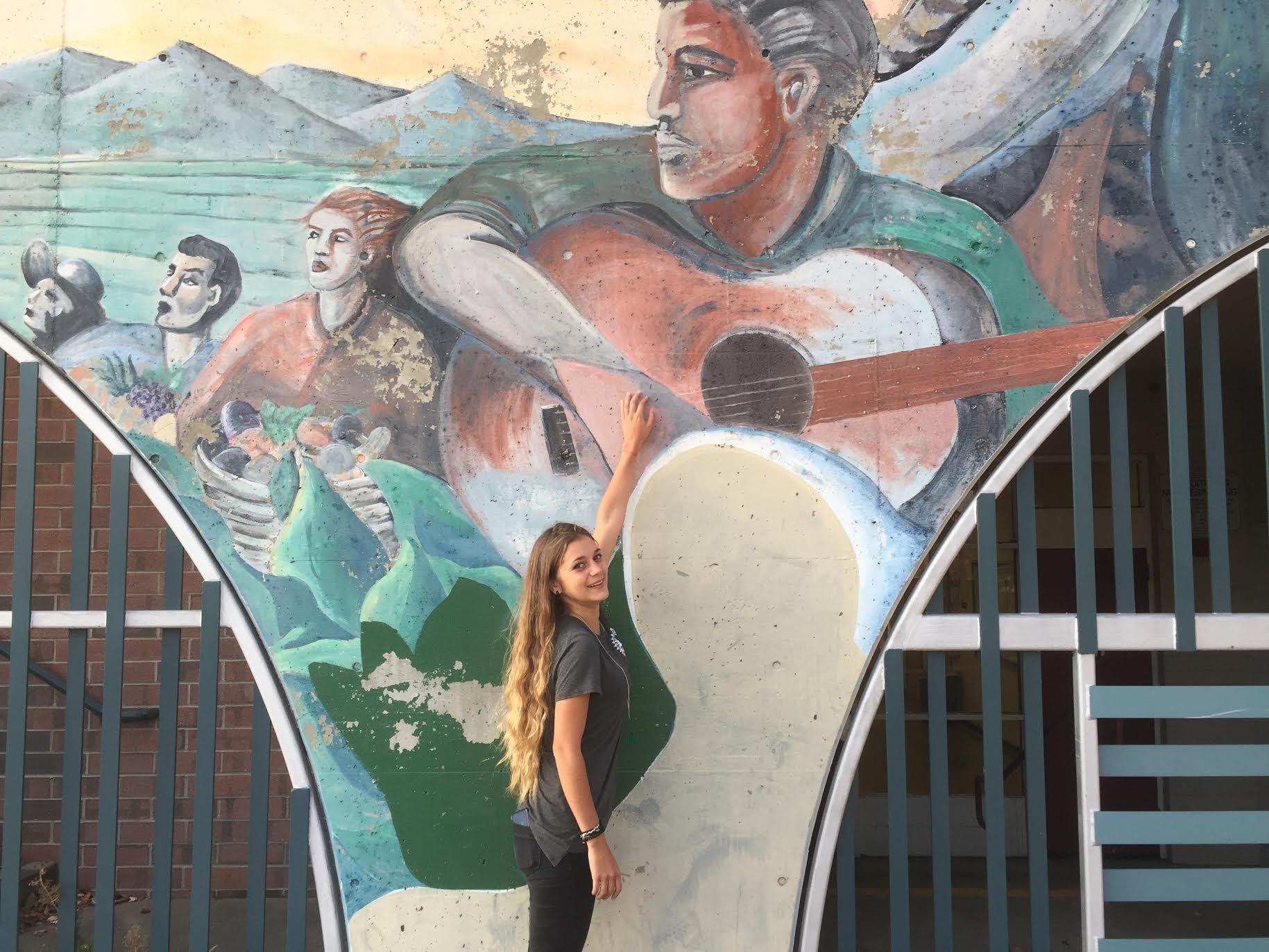 Willard School, old mural