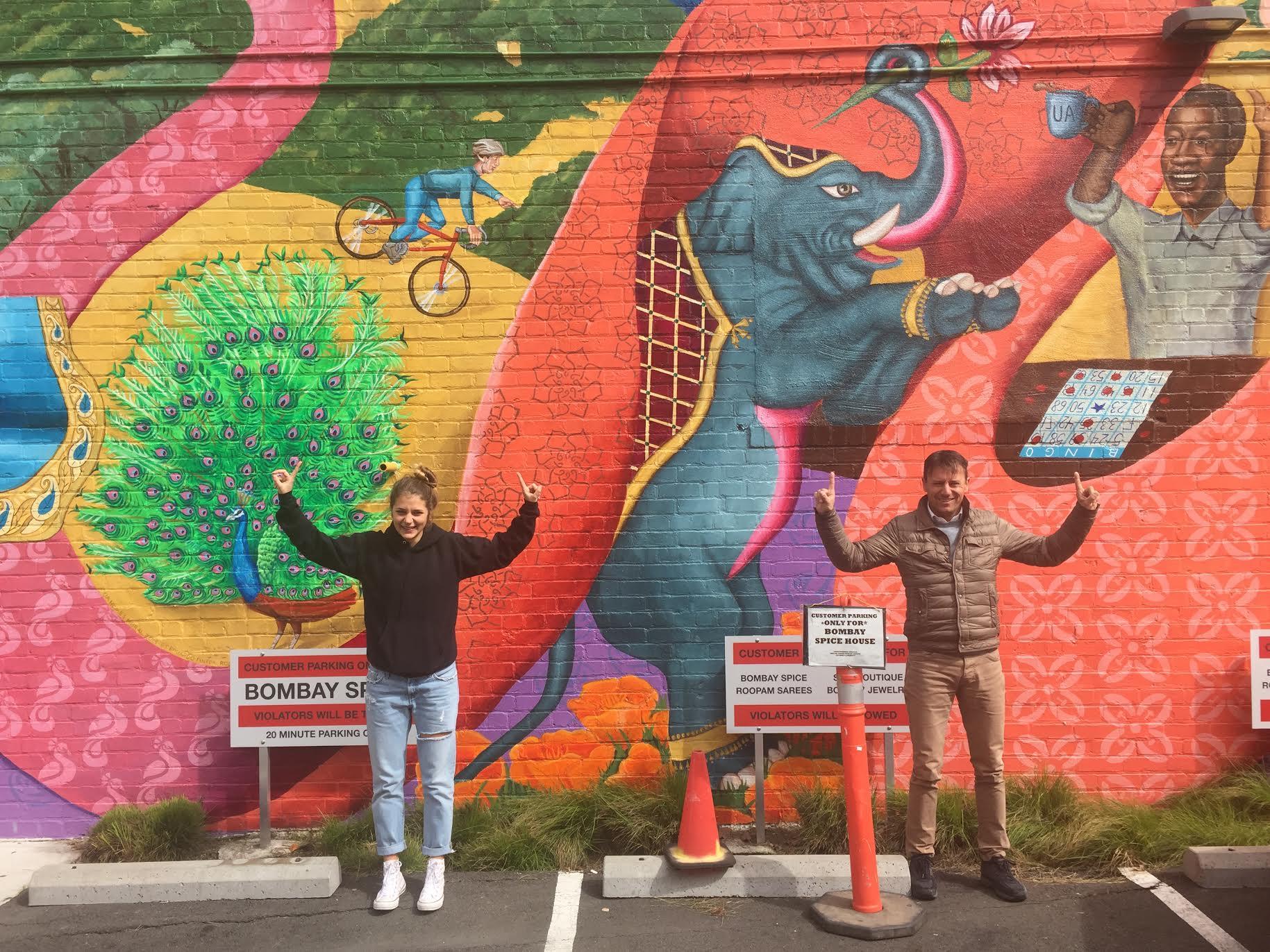 Eduardo Pineda mural, University at 9th