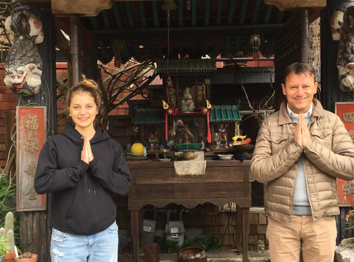 Frederic Fierstein's Buddhist altar, Arch Street