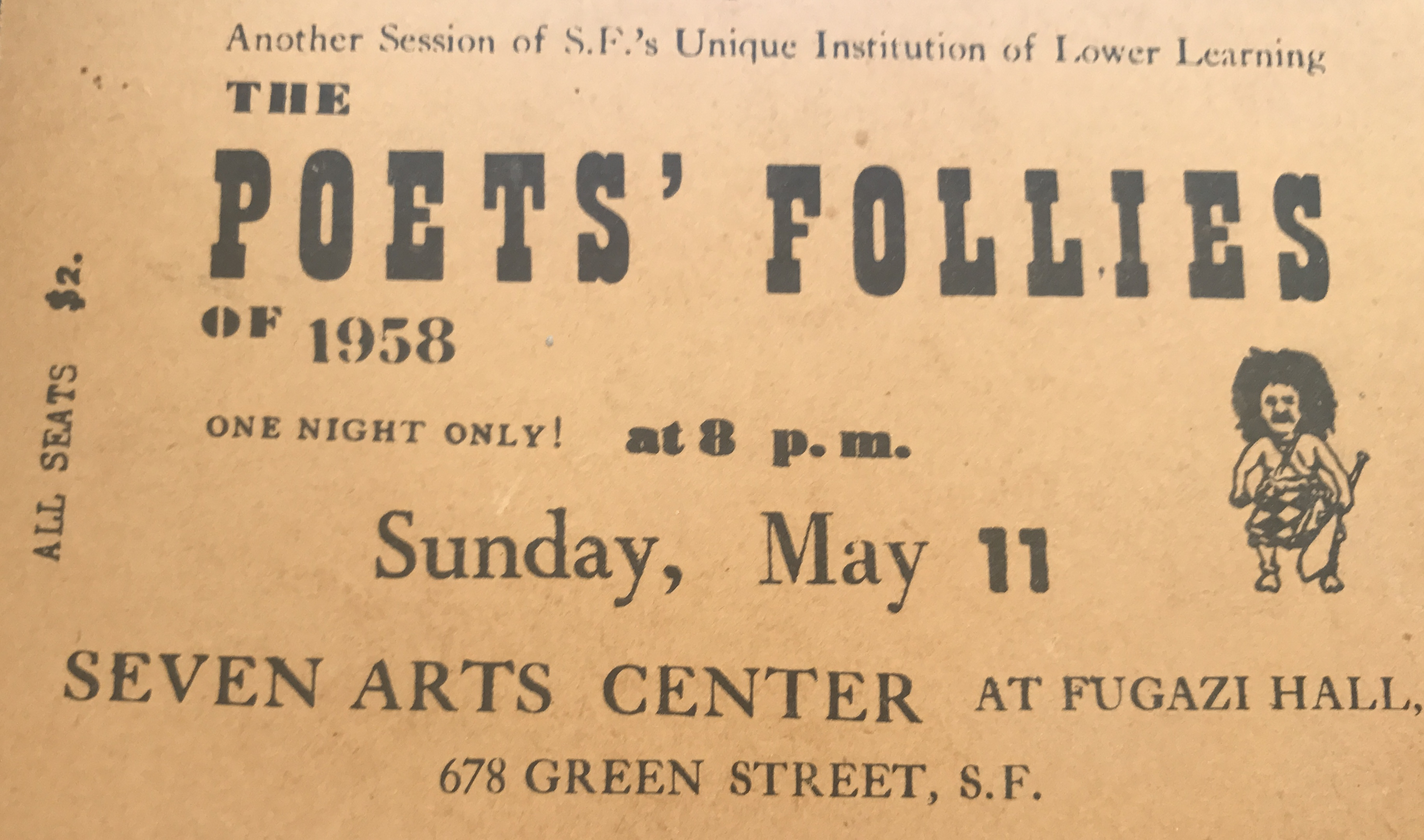 Poets Folly Ticket