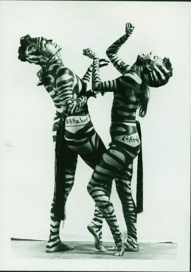 Tap-dancing zebra women