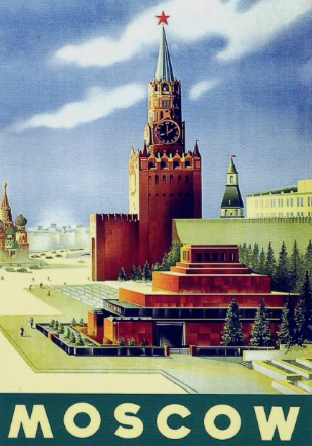Red Square travel poster