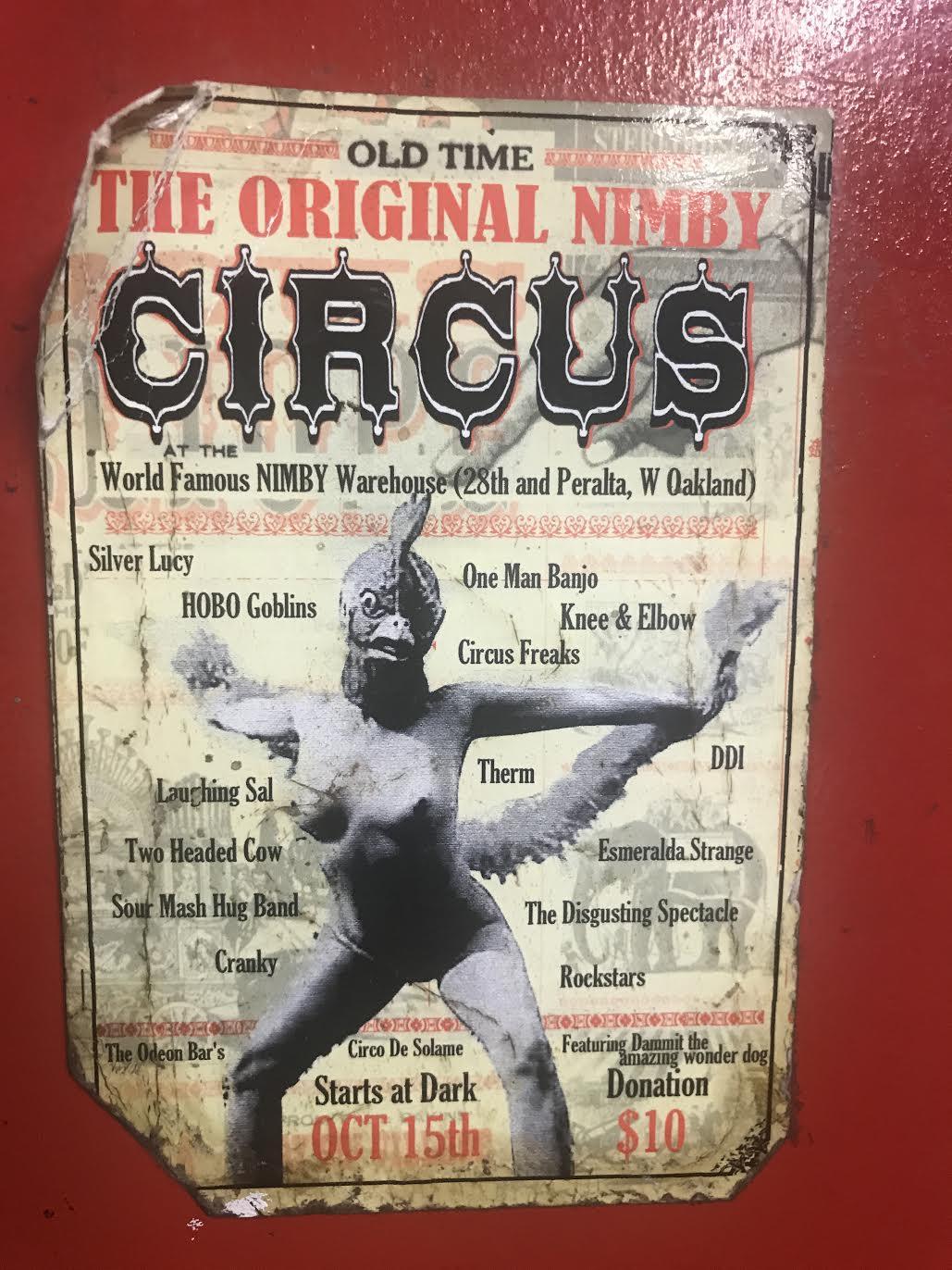 Sign - NIMBY CIRCUS 1