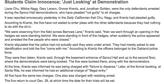 Students claim innocence