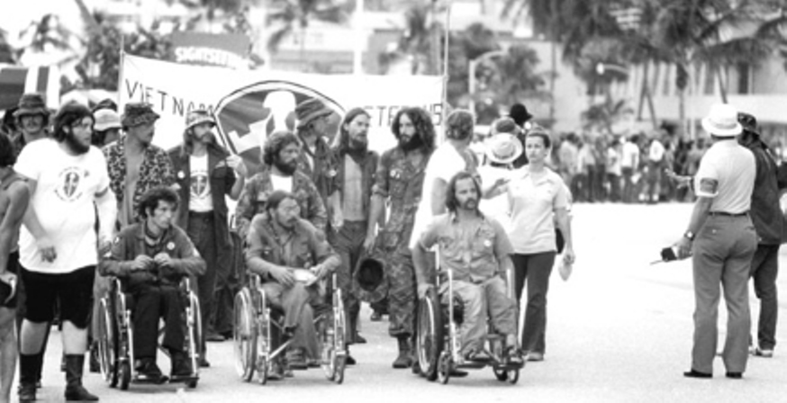 VVAW-Silent-March-to-Fontainebleau-Hotel-Nixon-Bunker-RNC-Miami-Fl-1972-Operation-Last-Patrol-Photo-VVAW-File