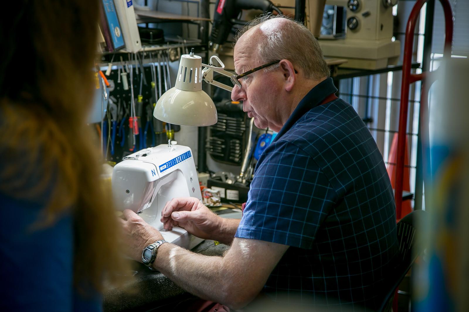 Chris Seegmiller, sewing what?