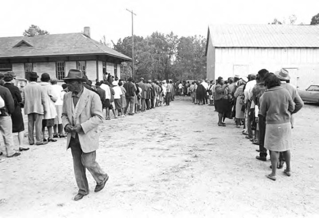 Election day 1965, Lowndes County. Photo: https://zinnedproject.org/materials/lowndes-county-and-the-voting-rights-act/