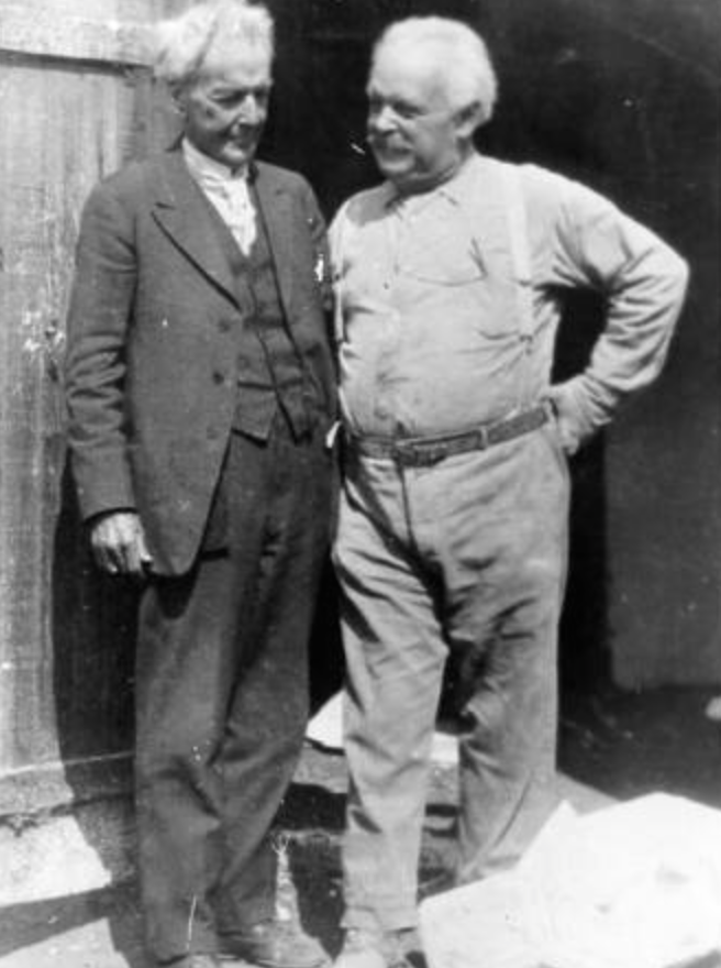 Luther Burbank (left) and Paul Beygrau (right).  Photo courtesy Sonoma County Library