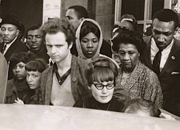 Anita Medal and Mario Savio at a CORE Action event in 1965 in Berkeley.   (Courtesy of Anita Medal)