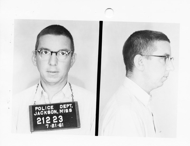 Professor Charles Sellers, arrested with Freedom Riders in Jackson, Mississippi (1961)