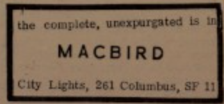 MacBird Shakespear