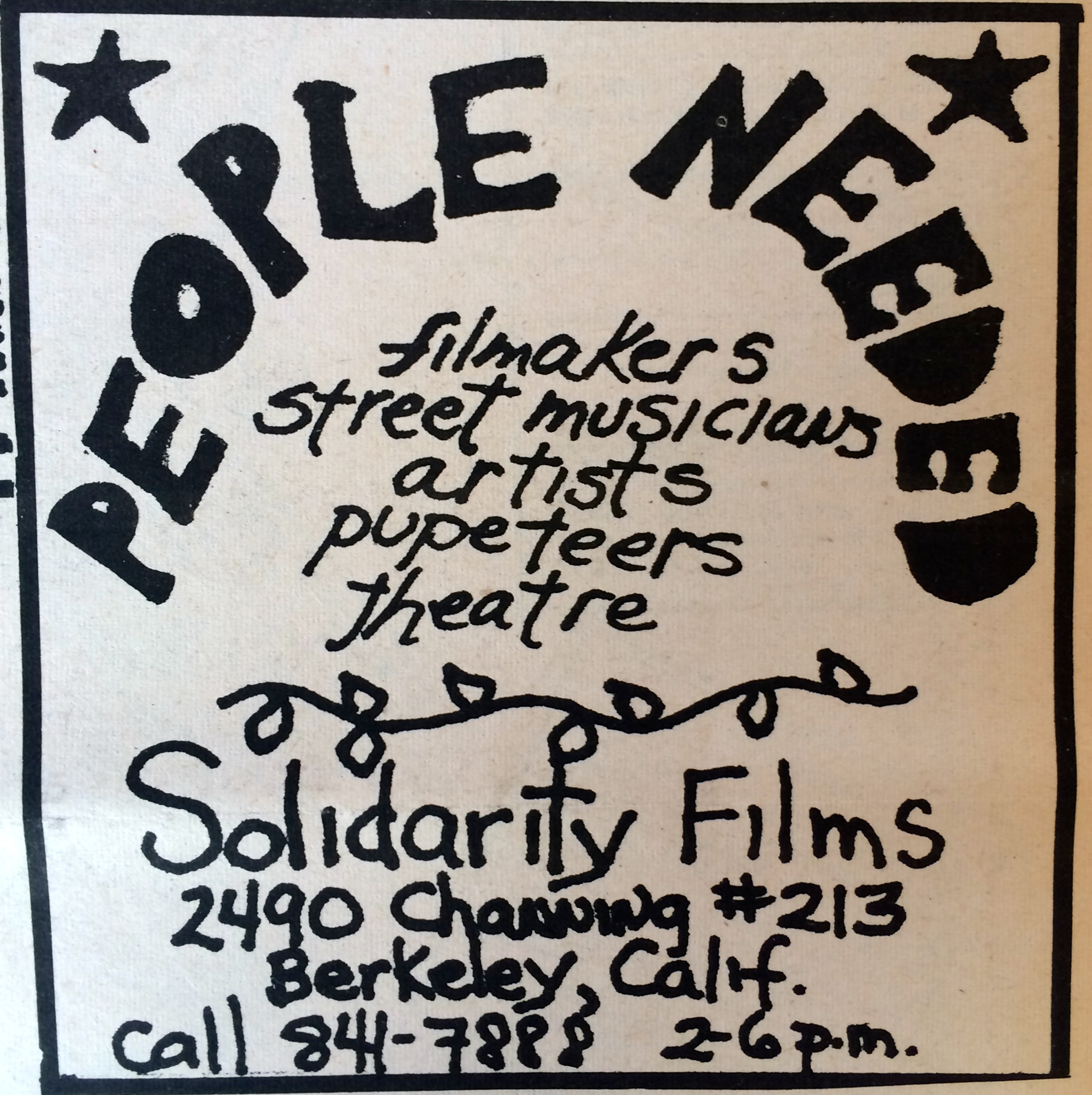 Solidarity Films Channing copy