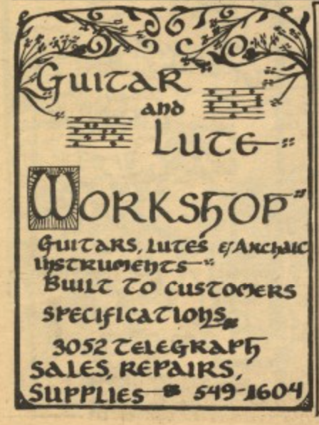 Guitar and Lute Workshop