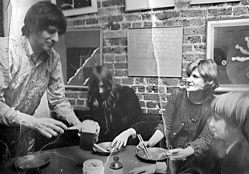 Jay Landesman, son Cosmo, and Fran Landesman in London.  Photo: Islington Tribune