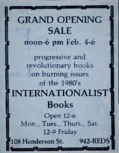 Daily Tar Heel February 3 1982 Digital NC newspapers Gran Opening of Internaitonalist Books