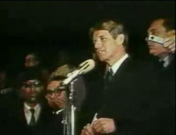 Indianapolis, Robert F. Kennedy's speech on the assassination helped keep the city quiet
