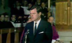 Edward Kennedy eulogizing his brother