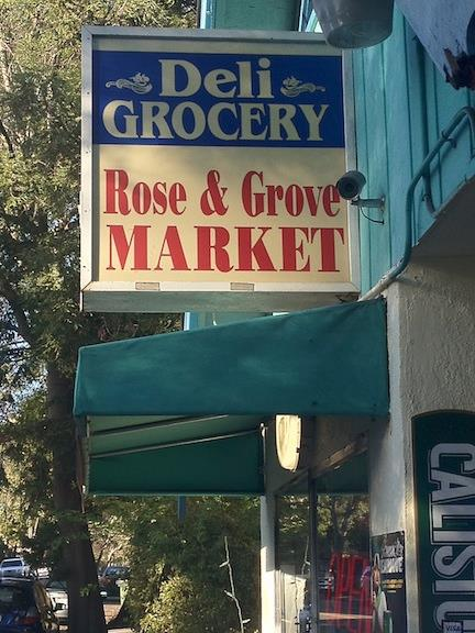 Rose and Grove Sign