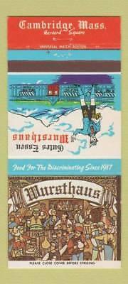 Matchbook-Cover-Gutes-Essen-Wursthaus-Cambridge-MA