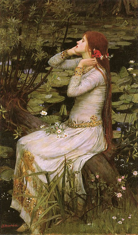 John William Waterhouse's painting Ophelia (1894)