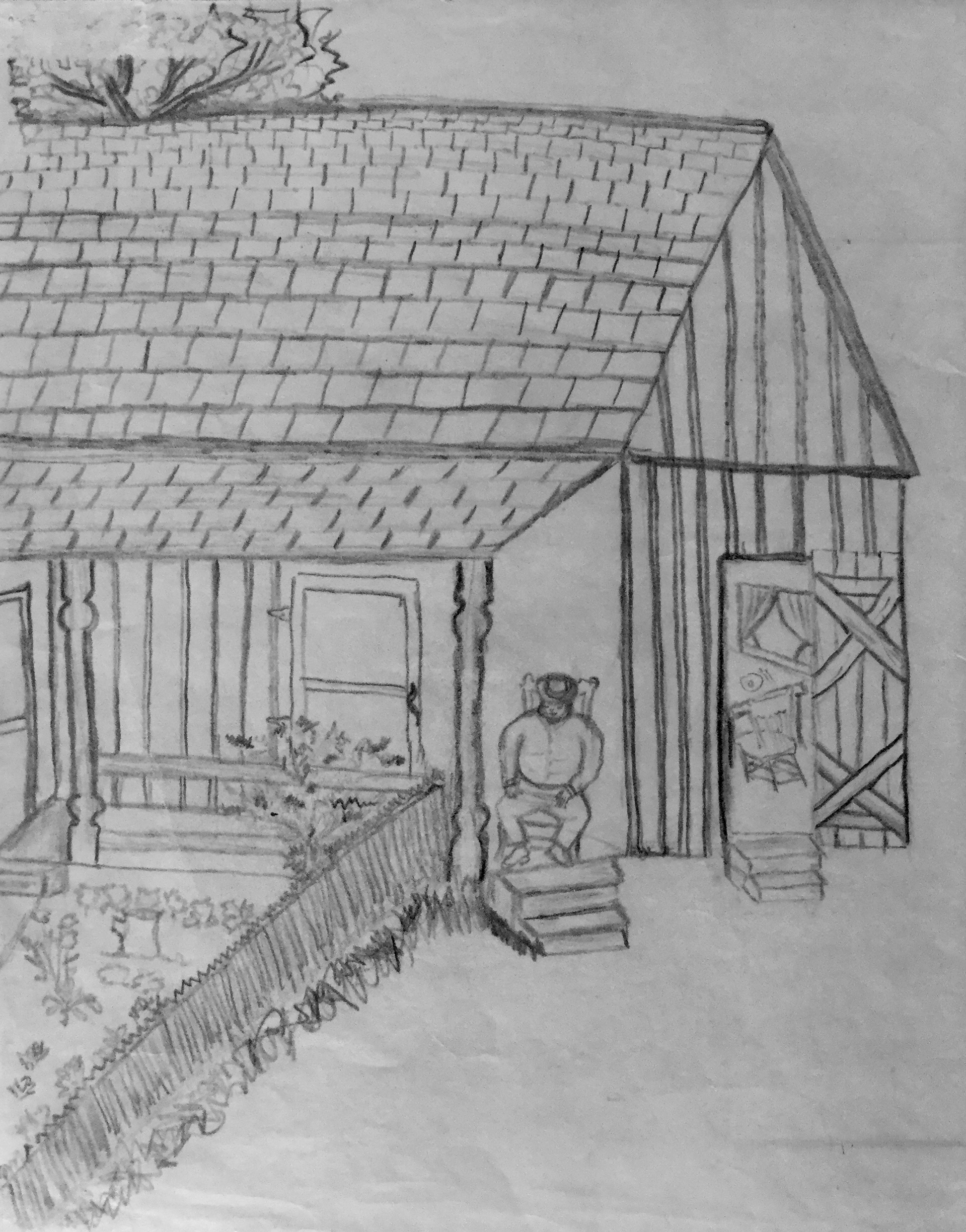 Pencil Drawing by mama, Maria C. Umphlette   1993   . Photo: Emmanuel Montoya
