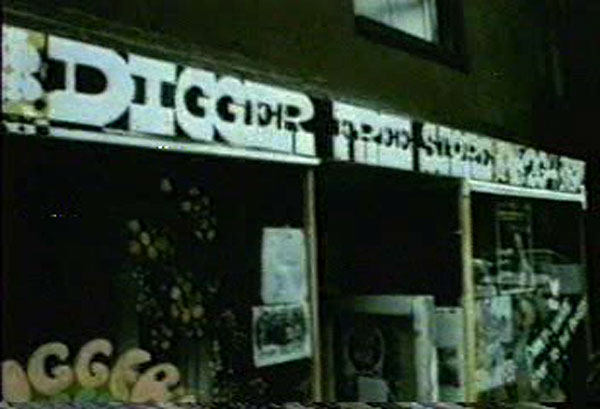 The Diggers' Free Store, 264 East Tenth Street, between First Avenue and Avenue A