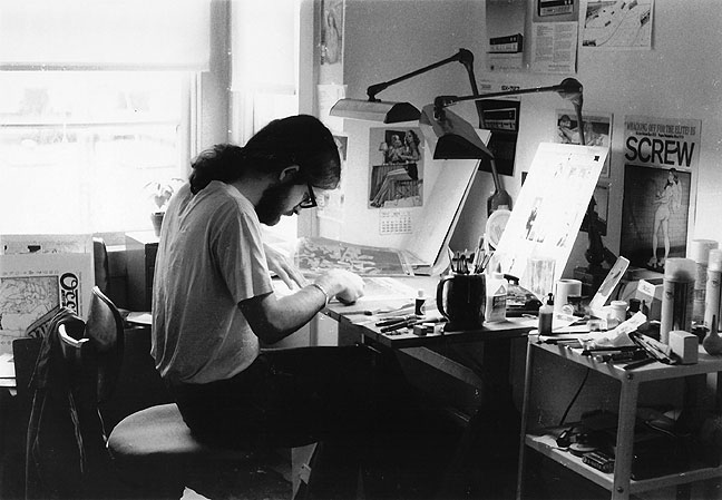 Jay Kinney in 1972.  Photo: Jeanine Schiff
