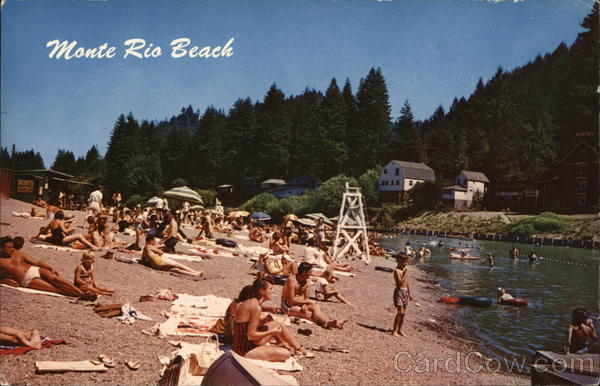 Monte Rio Beach on the Russian River, CA