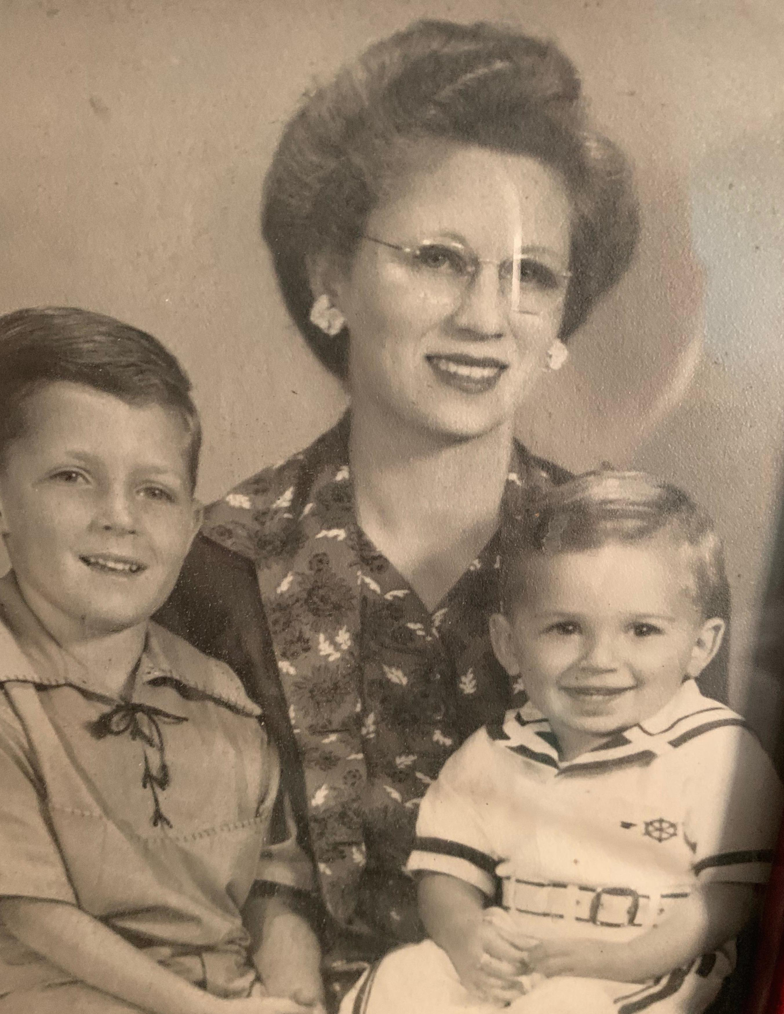 Alan and Ron with their mother Helen in the early 1940s. Photo courtesy of Ron Cohen.