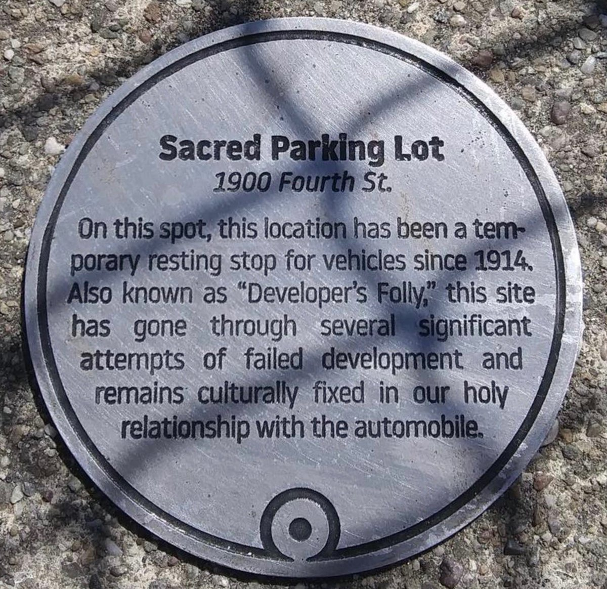 Sacred Parking Lot