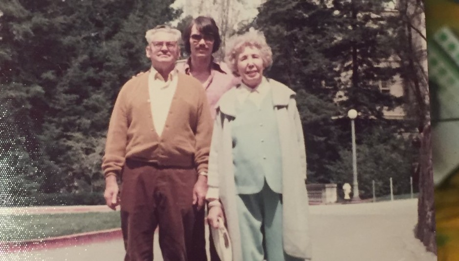 Geyer with his parents in 1969 on the UC campus. Photo courtesy of Al Geyer