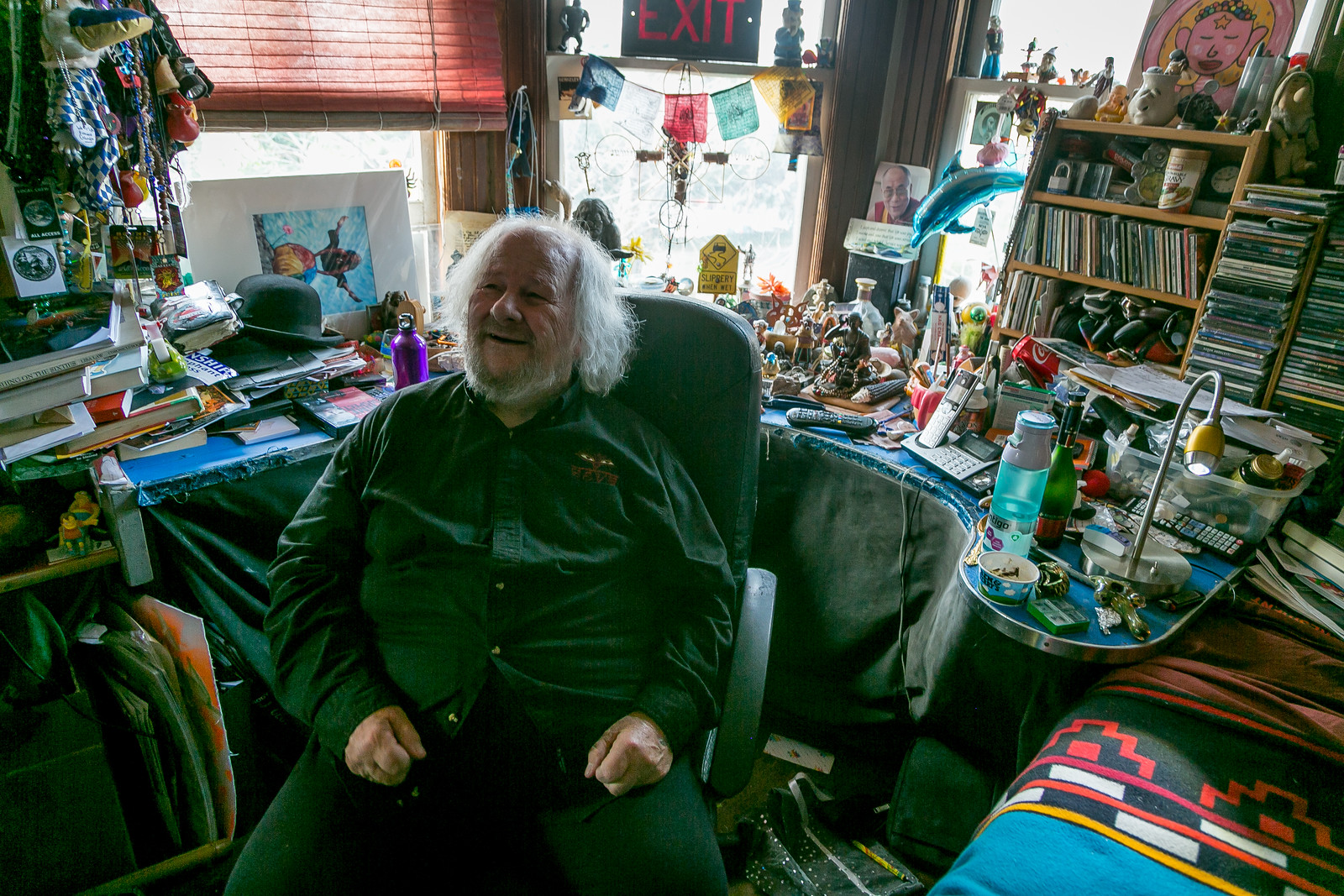Quirky Berkeley visits Wavy Gravy in Berkeley, Calif. on January 17th, 2018.