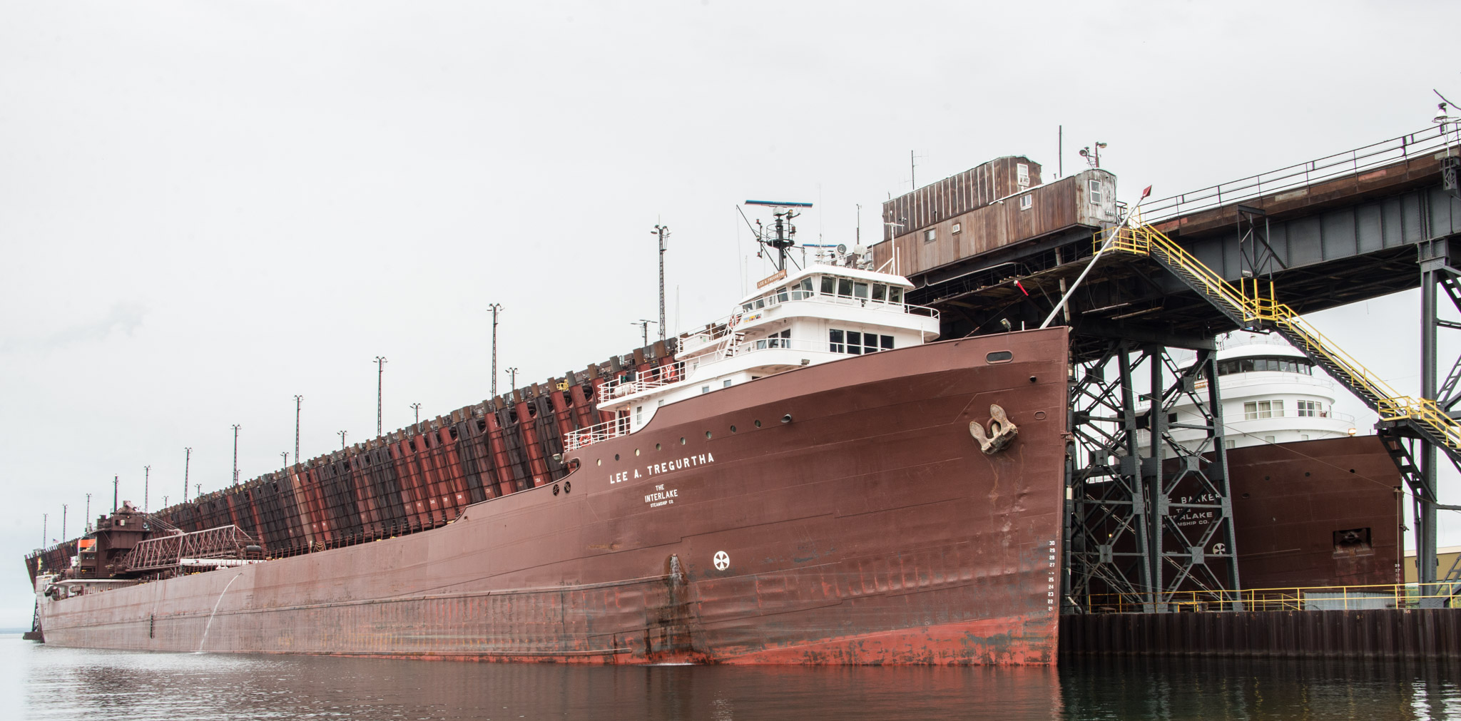 M/V Lee A. Tregurtha and the M/V James R. Barker at the Iron Ore