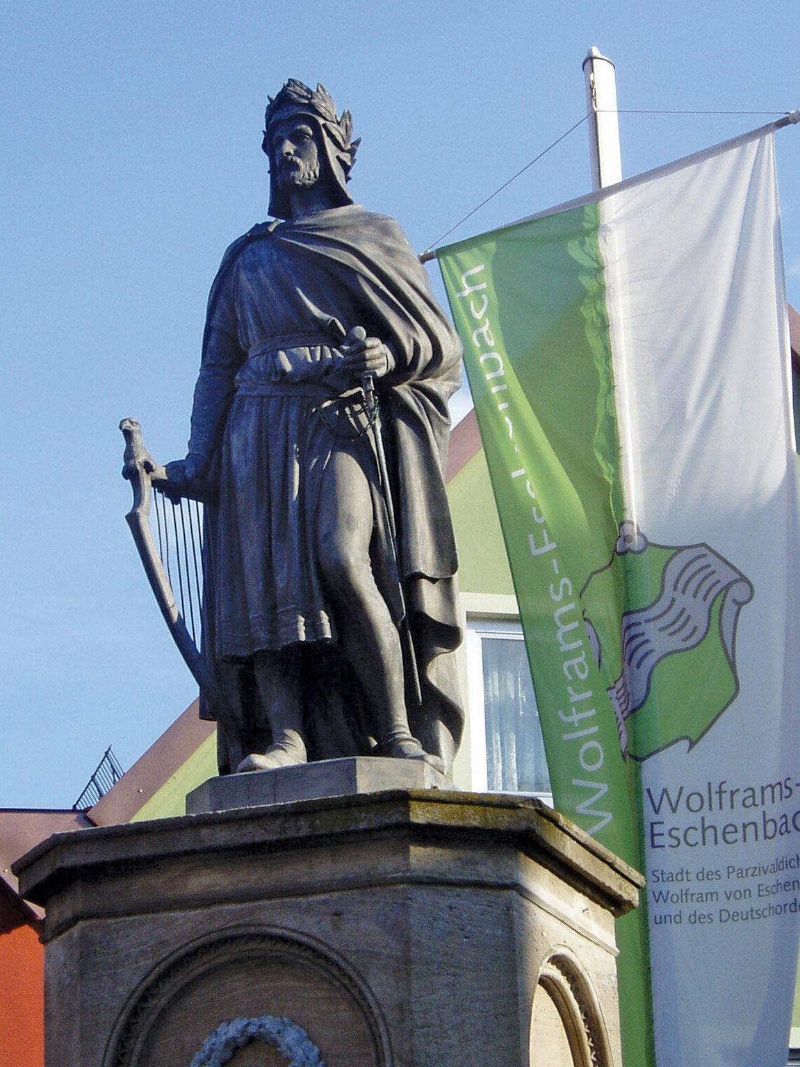 statue-Wolfram-Von-Eschenbach-Ger-Landkreis-Ansbach